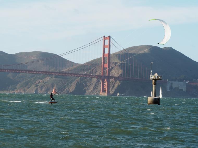 Kitesurfing in San Francisco